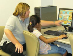 Campers Use Computers to Practice Life Skills