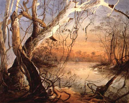 Confluence of the Fox River and the Wabash. Watercolor by Karl Bodmer, 1832