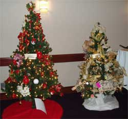 Bach Chorale's annual Festival of Trees will be held December 4 and 5 at the University Plaza Hotel.