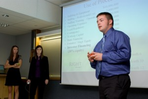 Students at last year's Entrepreneurship Academy pitch new business ideas. (Photo courtesy Purdue Research Park)