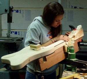 Woodworking experience is not required to attend Purdue's summer electric guitar making workshop. (File Photo)