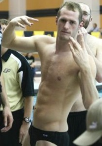Andrew Langenfeld won the 50 freestyle while breaking facility, conference and school records.