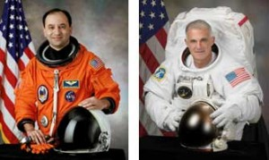 Boilermakers in space -- Purdue alumni Mark Polansky and David Wolf will team up with four other crew members for a June 13 NASA expedition to the international space station.