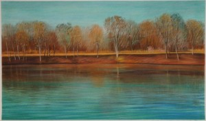 Deep River painting by Arne Kvaalen (2004)