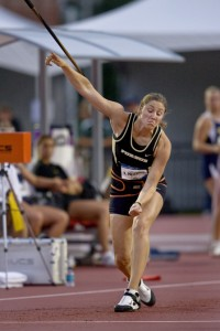 NCAA Division 1 2009 Outdoor Track and Field Championships at the University of Arkansas in Fayetteville.  Purdue's Kara Patterson took second in the Women's Javelin final. (Photo:Doug Beghtel, The Oregonian)