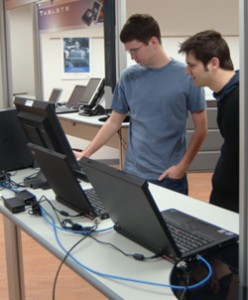 The computers were taken from the Information Technology at Purdue (ITaP) Offline Shopping Center in Stewart Center. The center is a vendor showcase where customers can examine the latest computer equipment.