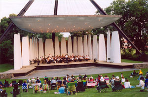 The hour-long concert starts at 7:30p on Tuesday, July 14th. Concert goers are encouraged to bring lawn chairs and blankets.