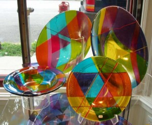 Kathleen Kitch, who works primarily with kiln-formed (fused) glass, is one of the Greater Lafayette artists whose work will be featured at Art on the Wabash.