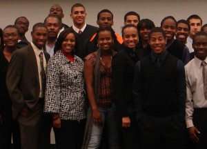 Photo from Orientation Seminar for Multiethnic Students in Engineering (ENGR 180) Fall 2008 Homecoming Celebration.