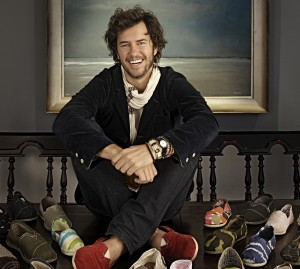 Blake Mycoskie, entrepreneur and founder of TOMS shoes, will speak at Purdue on Thursday (Oct. 29) as part of the Purdue Series on Corporate Citizenship and Ethics. The 7 p.m. talk, in Stewart Center's Loeb Playhouse, is free and open to the public. Mycoskie's company operates on the one-for-one business model, giving one pair of new shoes to a child in need with every pair sold. (Photo contributed)