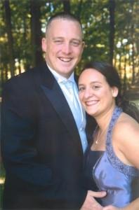 Julie Sennott and her fiancé, Michael Dunlap