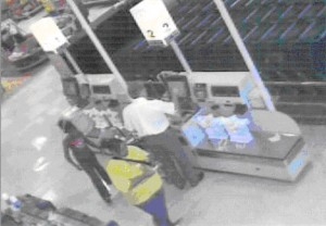 Surveillance image from Meijer on September 17, 2009
