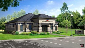 Artists rendering of new SIA Health and Wellness Center.