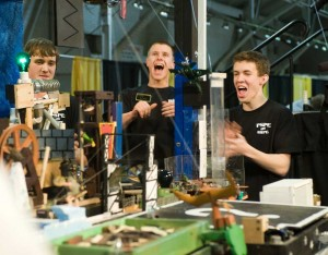 29th Annual Purdue Rube Goldberg contest winning team